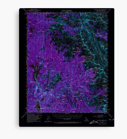 USGS TOPO Map California CA Blackcap Mtn 296822 1962 62500 geo Inverted Canvas Print