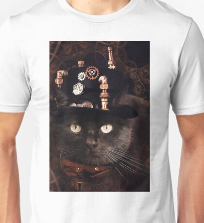 Steampunk Funny Cute Cat Unisex T-Shirt