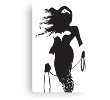 SuperHeroin Silhouette Prints Canvas Print
