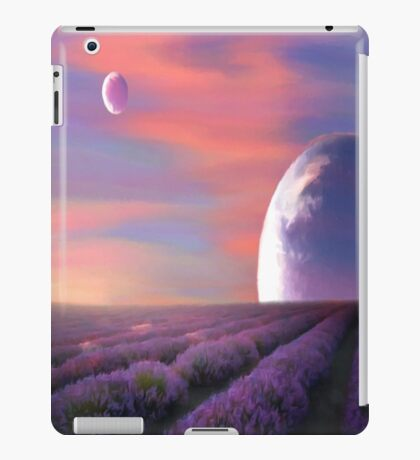alien planets lavender fields nature surreal fantasy sunset sunrise plants iPad Case/Skin