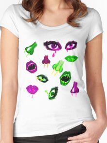 Dissociated Faces Women's Fitted Scoop T-Shirt