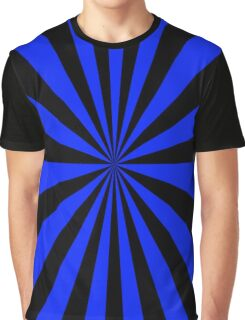 Blue And Black Psychedelic Groovy Pattern Graphic T-Shirt