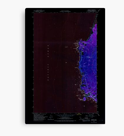 USGS TOPO Map California CA Trinidad 300950 1966 24000 geo Inverted Canvas Print