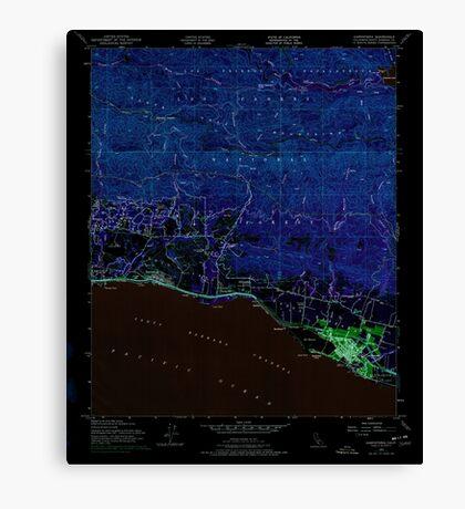 USGS TOPO Map California CA Carpinteria 288981 1952 24000 geo Inverted Canvas Print