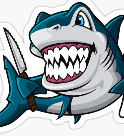 Hungry Sharky Sticker
