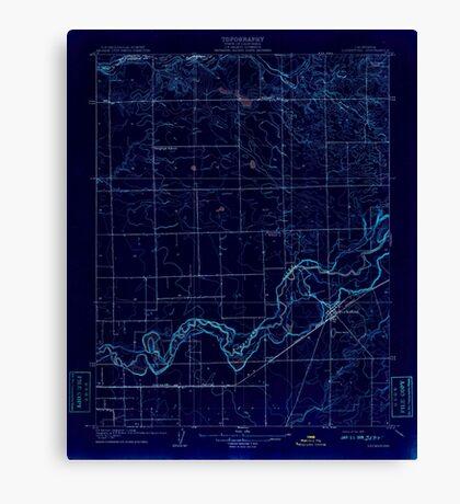 USGS TOPO Map California CA Lockeford 296259 1908 31680 geo Inverted Canvas Print