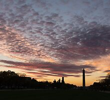 Washington National Mall Skyline and a Spectacular Sky by Georgia Mizuleva