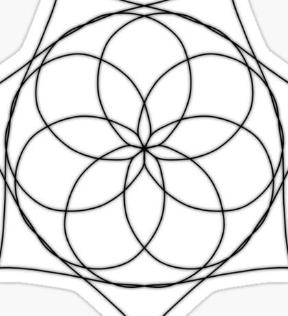Star Inside A Flower Inside A Sun Sticker