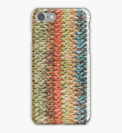Texture of woven straw iPhone Case/Skin