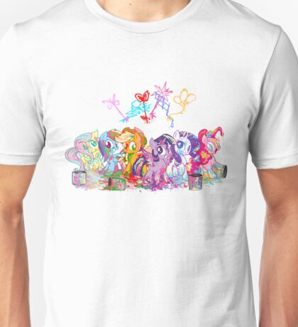Rainbow Paint  Unisex T-Shirt