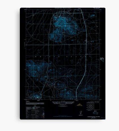 USGS TOPO Map California CA Soledad Mountain 300578 1947 24000 geo Inverted Canvas Print