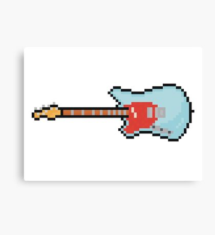 Pixel Lefty Mustang Guitar Canvas Print