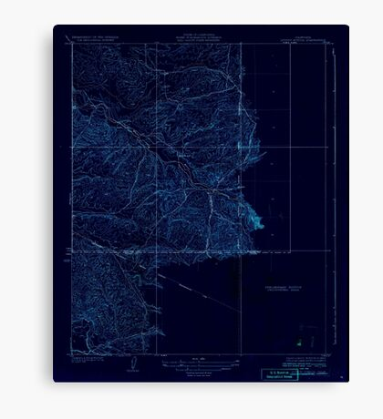 USGS TOPO Map California CA Quincy School 296441 1929 31680 geo Inverted Canvas Print