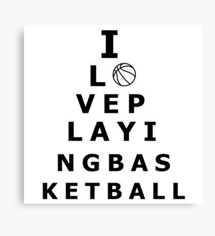 I love playing basketball pyramid Canvas Print