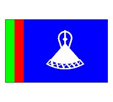 Old Lesotho Flag Photographic Print