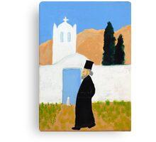 Greek Painting Greek Papas Canvas Print