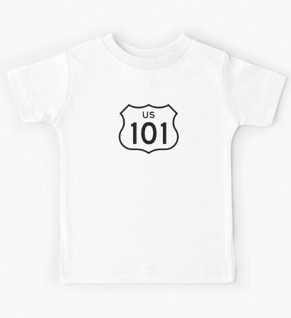 US Route 101 Sticker Kids Tee