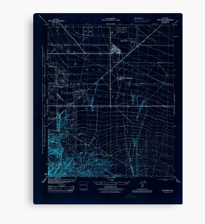USGS TOPO Map California CA Pentland 296410 1945 31680 geo Inverted Canvas Print