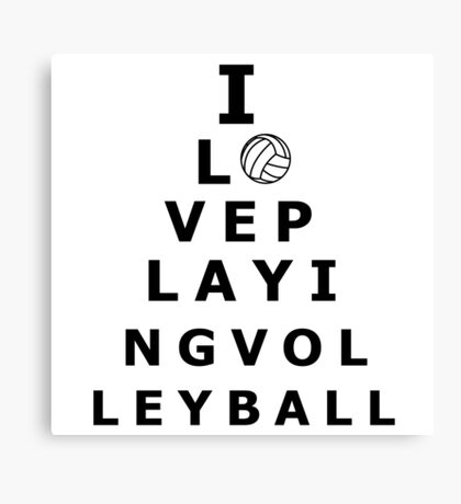I love playing volleyball pyramid Canvas Print