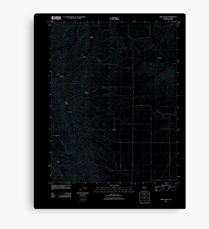 USGS TOPO Map California CA Bird Valley 20120213 TM geo Inverted Canvas Print