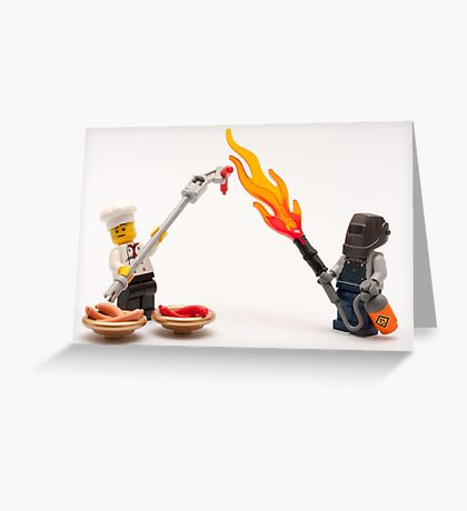 Extreme BBQ Greeting Card