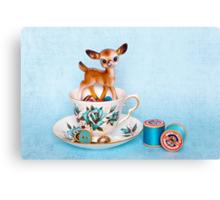Crafty bambi Canvas Print