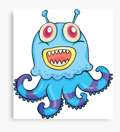 Smille Octopus Canvas Print