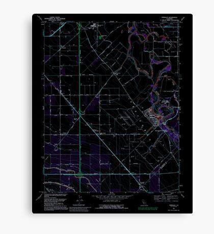 USGS TOPO Map California CA Vernalis 102365 1991 24000 geo Inverted Canvas Print