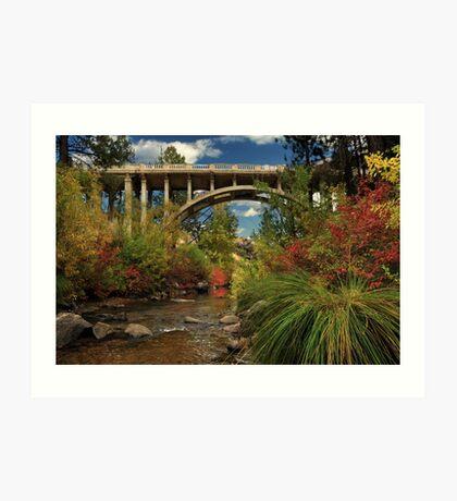 Historic Highway Bridge - Susan River Art Print