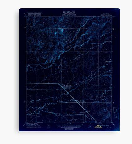 USGS TOPO Map California CA Planada 296414 1918 31680 geo Inverted Canvas Print