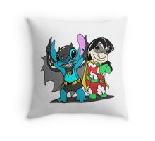 Bat-Stitch & Lilo-Robin Throw Pillow