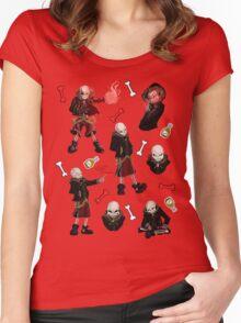 Fell Sans Doodles Women's Fitted Scoop T-Shirt