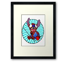 Spidey Stitch Framed Print