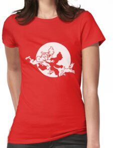 black tintin Womens Fitted T-Shirt