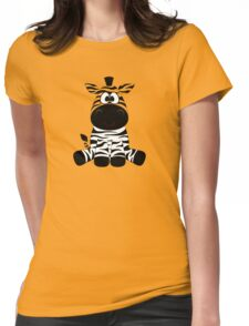 Sitting Zebra Womens Fitted T-Shirt