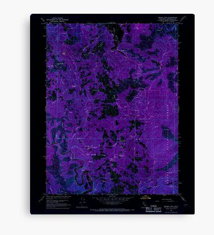 USGS TOPO Map California CA Brushy Mtn 288641 1966 24000 geo Inverted Canvas Print