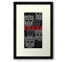 The Iconic Autobots (black) Framed Print