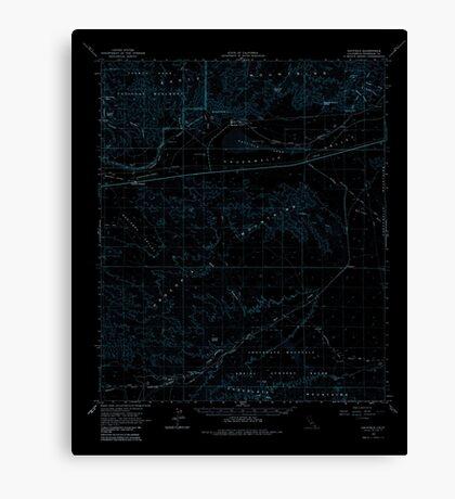 USGS TOPO Map California CA Hayfield 297653 1963 62500 geo Inverted Canvas Print