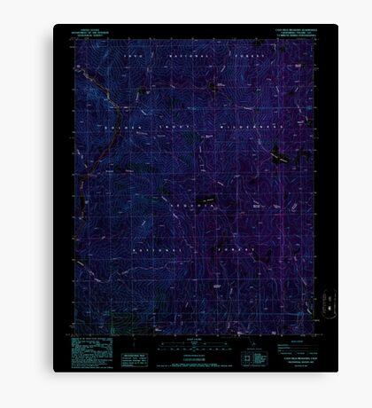 USGS TOPO Map California CA Casa Vieja Meadows 289011 1987 24000 geo Inverted Canvas Print