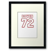 NFL Player Stephen Bowen seventytwo 72 Framed Print