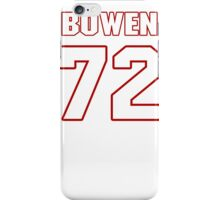 NFL Player Stephen Bowen seventytwo 72 iPhone Case/Skin