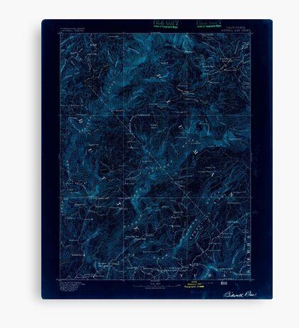 USGS TOPO Map California CA Bidwell Bar 299205 1893 125000 geo Inverted Canvas Print