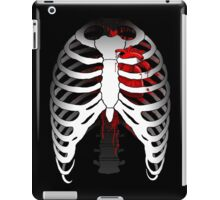 Love hurts... (Ribcage with heart) iPad Case/Skin