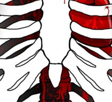 Love hurts... (Ribcage with heart) Sticker