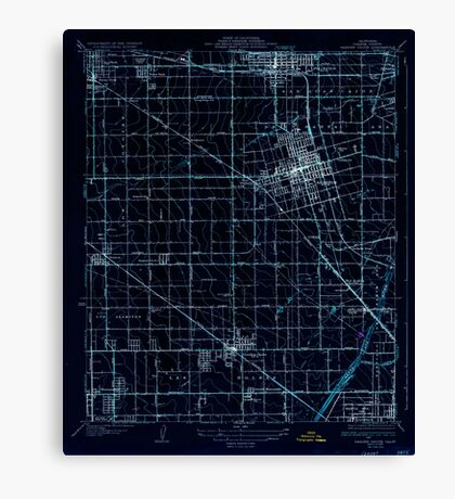 USGS TOPO Map California CA Garden Grove 296111 1935 31680 geo Inverted Canvas Print