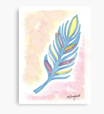 2017 Collection- Primary Feather Canvas Print