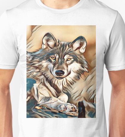 My Creative Design of a Grey Timber Wolf Unisex T-Shirt