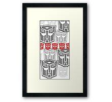 The Iconic Autobots (white) Framed Print