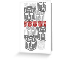 The Iconic Autobots (white) Greeting Card