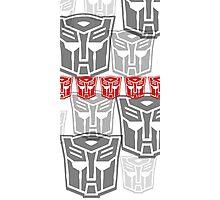 The Iconic Autobots (white) Photographic Print